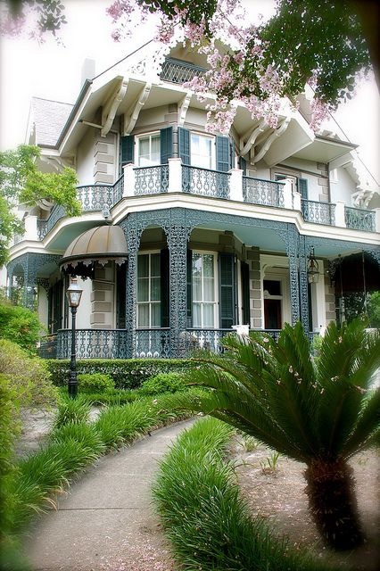 Sandra bullock's house by gamene, via Flickr - Victorian Mansion in the New Orleans Garden District built in 1876.