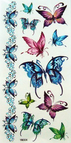 Yimei Flower Temporary Tattoo for Women for Youth Waterproof Body Tattoo (Pretty Flower Bracelet, Armband and Mysterious Blue Butterflies) by YiMei. $2.67. Ships from and sold by MicroDeal. easily water transfer on and remove by baby oil.. long lasting for 5~7 days.. F.D.A, EN71, ASTM or CE approval. Non-toxic.. Fashionable, eye catching designs.. High quality temporary tattoos and no toxic./ Can be freely used on skin, glass, pottery, metal and other smooth &...