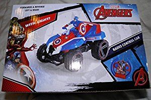 Amazon.com: Avengers CAPTAIN AMERICA Radio Control (RC) Quad ATV: Toys & Games