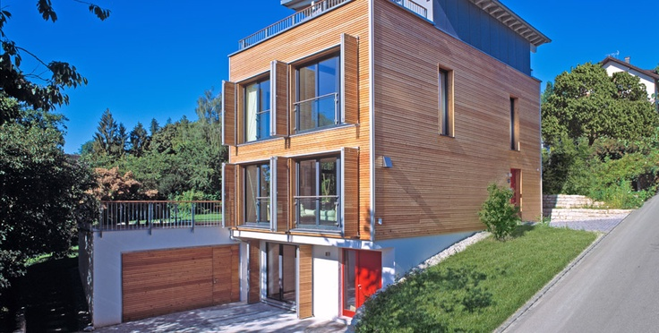 Bi-folding shutters (closet style)  http://www.baufritz.com/pic/houses/view/1816/2-eco-friendly-houses-house-bretschneider-eastern-view.jpg
