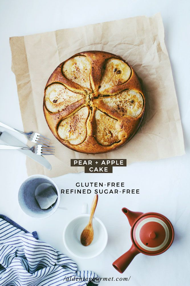 Pear and Apple Cake Gluten-Free Baking! Also Refined Sugar-Free!!!