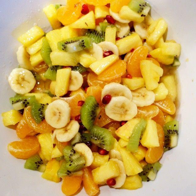 Salade de fruits hivernale, sirop vanille cannelle – A table avec Julie