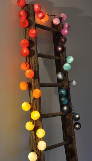 Ljusslinga Happy Lights Rainbow 35 Bollar