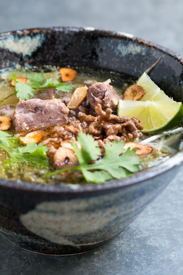 Cambodian Breakfast: Kuy Teav Recipe - Beef Noodle Soup