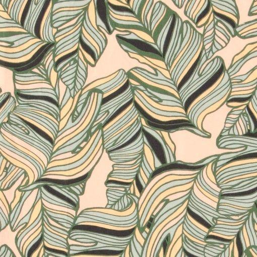 Bomuld pudder m store grønne blade