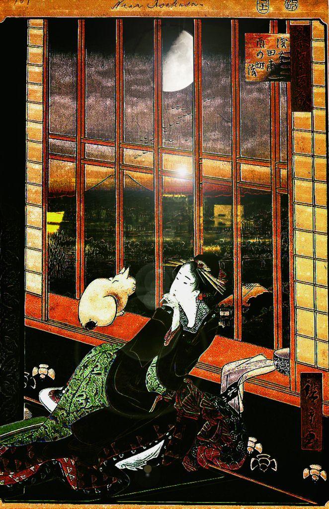 冬の部 浅草田甫酉の町詣の遊女とお月様 - 漂着おやじ - Yahoo!ブログ