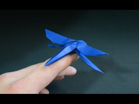 Origami Dragonfly  - Tutorial - How to make an origami Dragonfly - YouTube