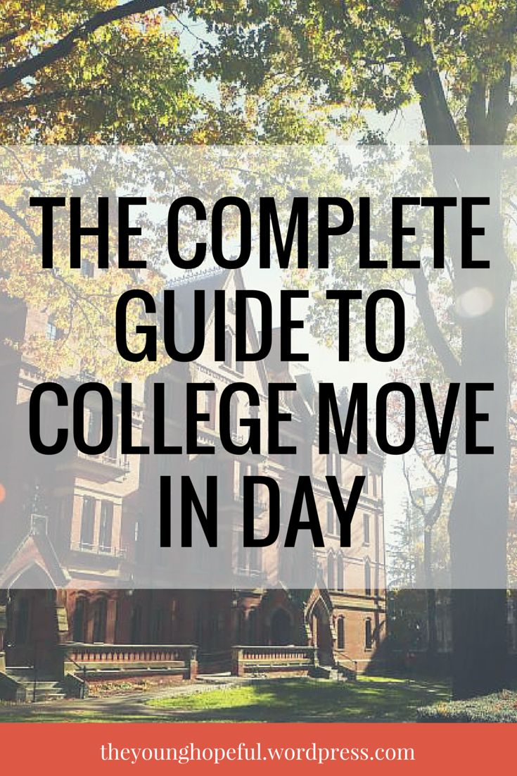 Your complete guide to making college freshman move in day less stressful and more memorable!