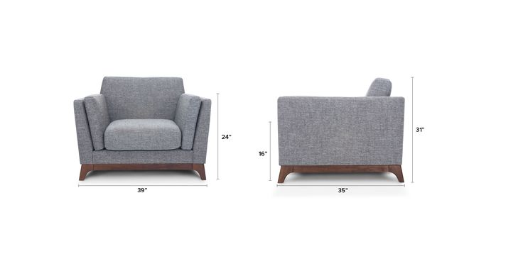 Ceni Volcanic Gray Armchair - Lounge Chairs - Article | Modern, Mid-Century and Scandinavian Furniture