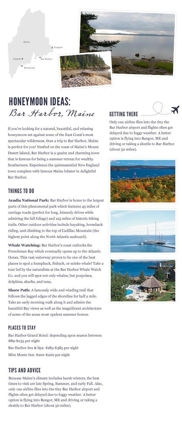 Bar Harbor, Maine | Honeymoon Destination | Travel Inspiration via Bayside Bride