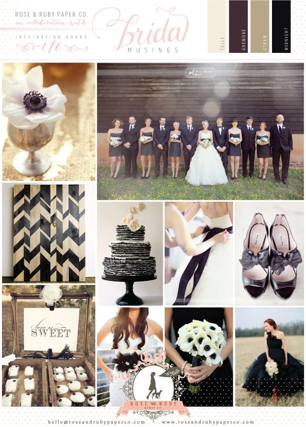 Chic Monochrome Wedding Inspiration Board by @Rose Murphy