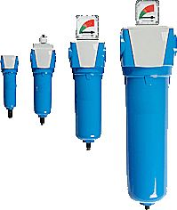 High efficiency compressed air filters with energy efficient elements ensure that pressure drops are minimal without compromising service life and compressed air quality.
