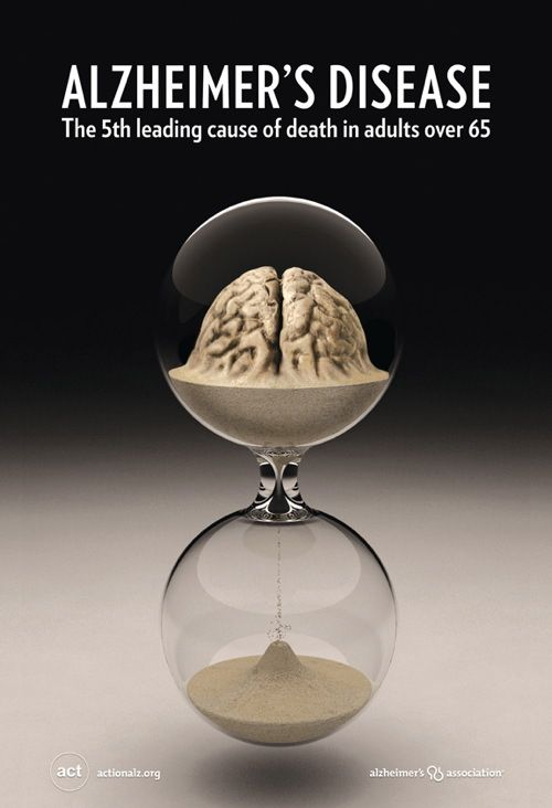 Alzheimer's: the 5th leading cause of death in adults over 65. Stop the trend--support Alzheimer's research.