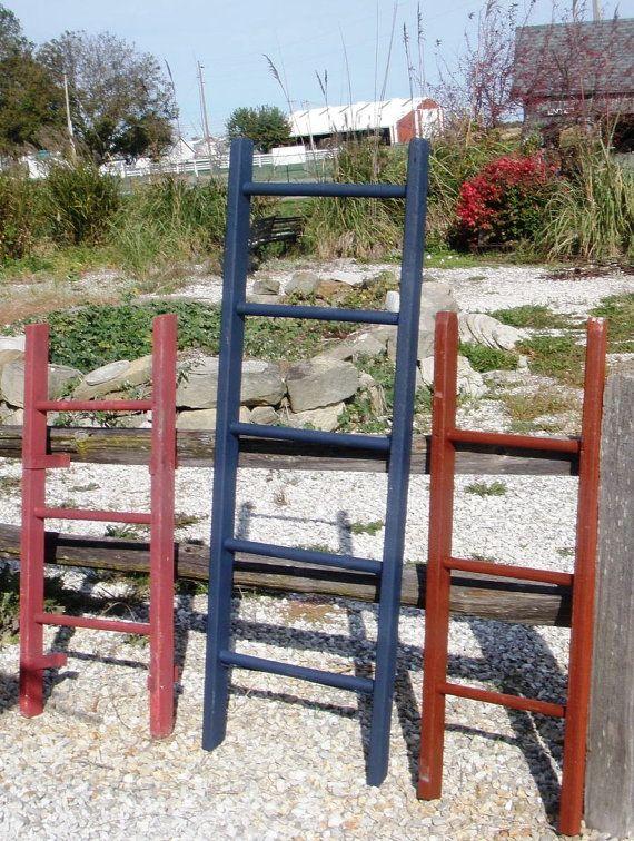 3 Rung Pot Rack using Vintage Ladder - Choose a Vintage Surface or Pick a Color