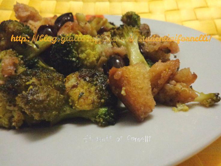 Broccoletti al vino rosso con olive nere