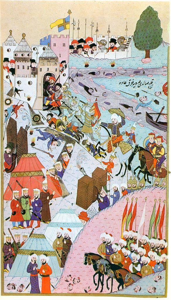 Siege of Belgrade (Hünernâme (1588 CE Ottoman Miniature Painting) -Seyyid Lokman)