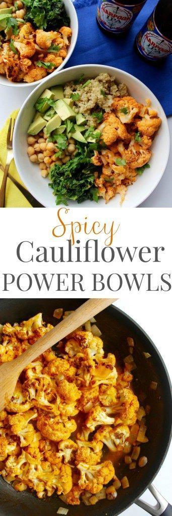 Spicy Cauliflower Power Bowl - pumpkinandpeanutbutter