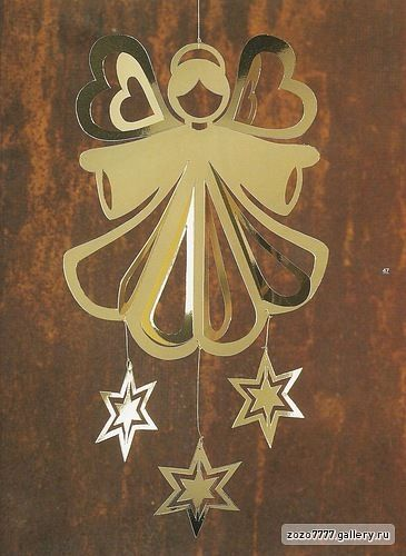 Paper angel ornament template