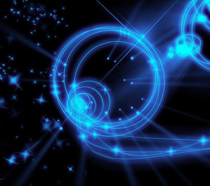 Cool Neon Blue Designs blueneonlightsabstractblack
