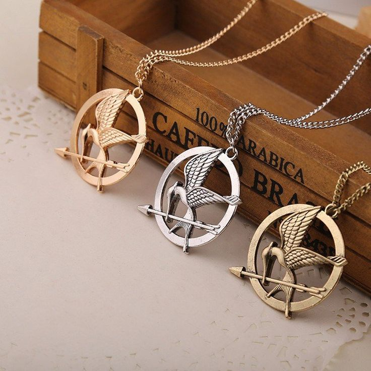 Set of 3 Hunger Games MockingJay Bird Necklace Jewelry Gift