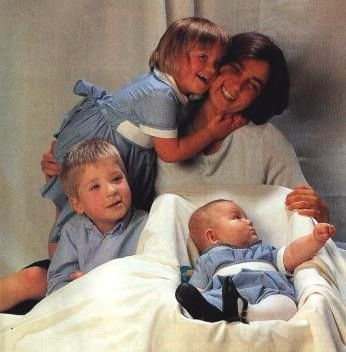 Duchess Isabel Ines with children Afonso (b. 1996), Maria Francisca (b. 1997) and Dinis (b. 1999)