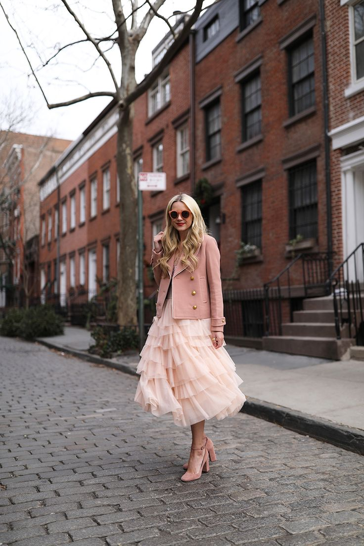 Skirt: ASOS (also bought this one). Sequin Tank: J.Crew. Shoes: Via Spiga. Peacoat: J.Crew. Sunglasses: old, similar here. Shop some of my other favorite blush picks here!