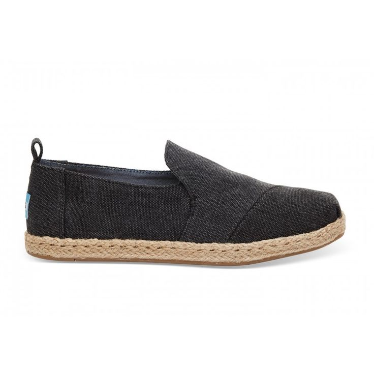 john-andy.com | Toms Black Washed Canvas Decnalp Alpargata Γυναικεία 10009834