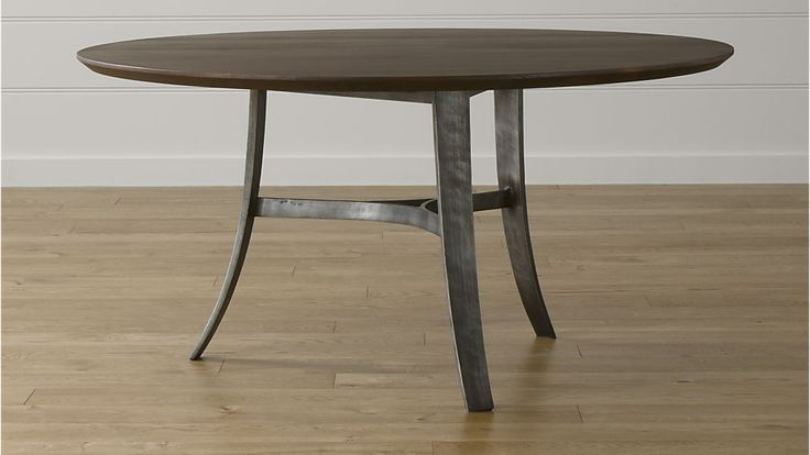 """BREAKFAST AREA:  Tahoe 60"""" Round Dining Table   Crate and Barrel, $1799 seats 6"""