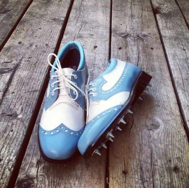 A personal favorite from my Etsy shop https://www.etsy.com/listing/189710447/arnold-palmer-womens-wingback-golf-shoes