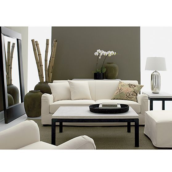 parsons coffee table crate and barrel | idi design