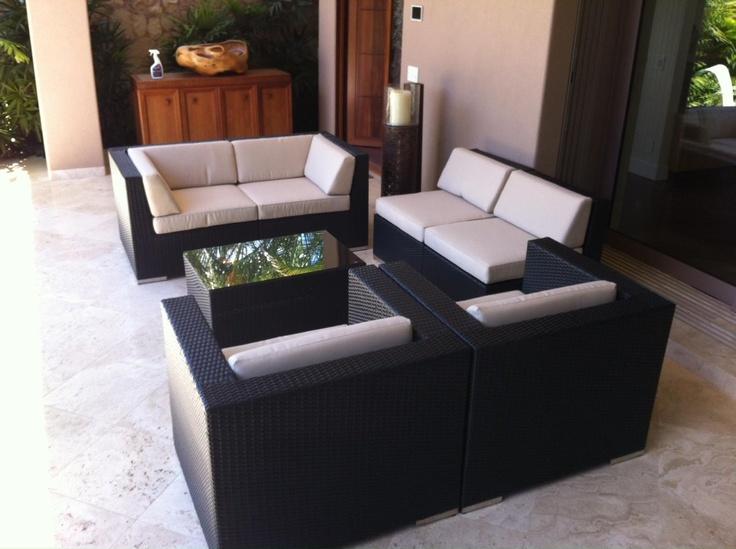 Ohana Wicker Furniture Outdoor Patio Furniture Deep Seating Set Ohana Depot