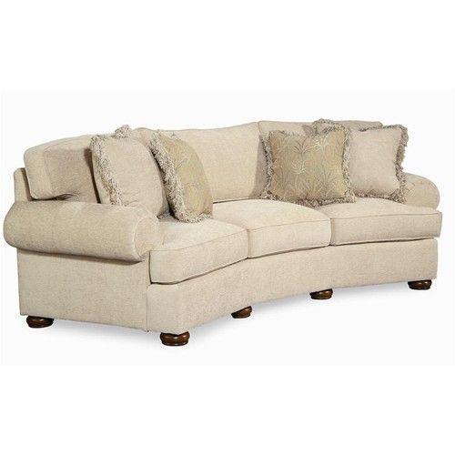 Century Elegance Wedge Sofa With Bun Feet
