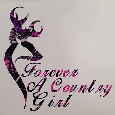 "Muddy Girl Pink Camo Forever A Country Truck Vinyl Decal 5"" Hunt Deer Browning 