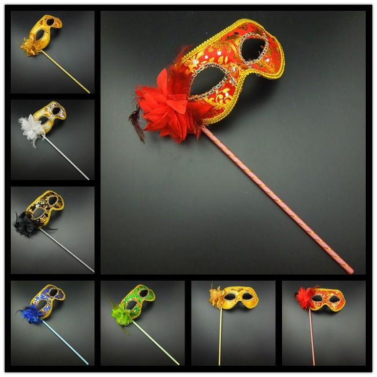 On Sale Party Masks Gold Cloth Coated Flower Side Venetian Masquerade Party Mask On Stick Carnival Halloween Mask Mix Color Venetian Masks For Men Venetian Masks For Sale From Calytao, $65.33  Dhgate.Com