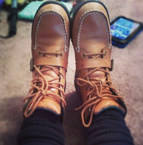 Ralph Lauren Polo boots. ||||| I want these for Christmas