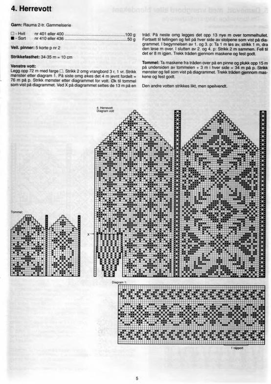 Scandinavian knit mittens @chefvaleria