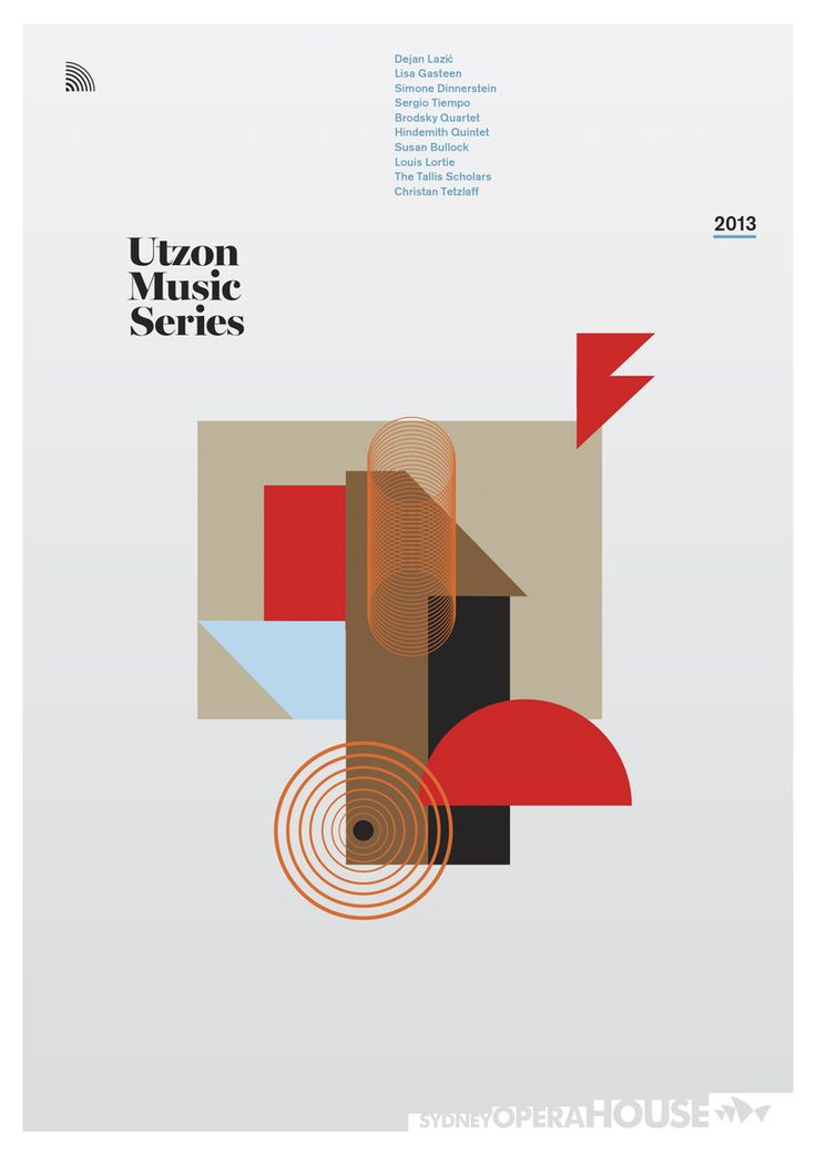 """utzon music series 2013, sydney opera house"" by garbett / australia, 2013 / digital print, 841 x 1189 mm"