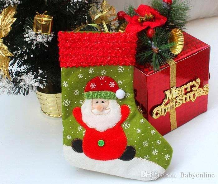 New Arrival 2015 Christmas Decorations Cute Children Gifts Stockings Santa Snowman Design Socks For Christmas Supply MYF271 Online with $9.62/Piece on Babyonline's Store | DHgate.com