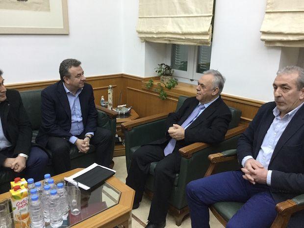 Την στήριξη της Κυβέρνησης στα μεγάλα έργα της Κρήτης ζήτησε ο Στ. Αρναουτάκης από τον Αντιπρόεδρο Γ.  Δραγασάκη