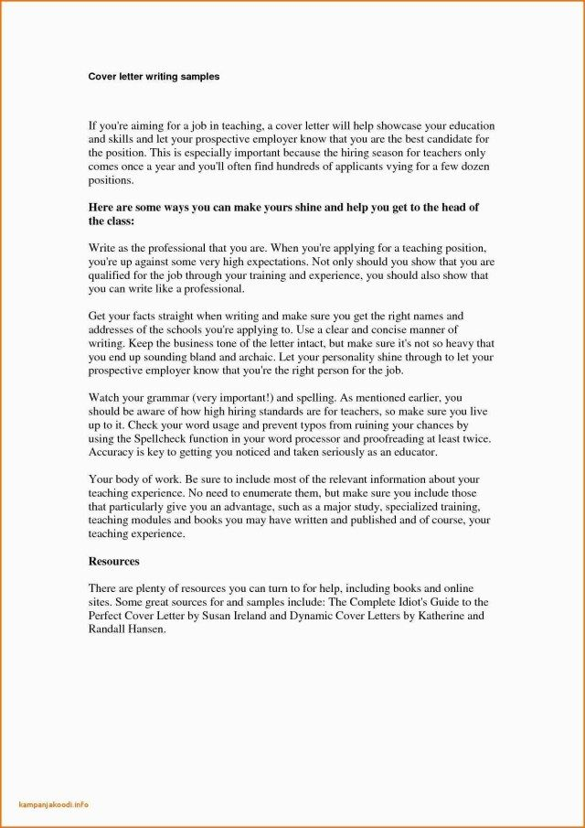 sample cover letter for online teaching position.html