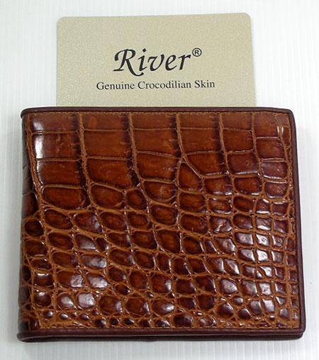 alligator wallet | Cognac Crocodile Wallet