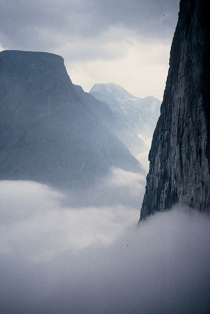 mountains and mist photo by Berwyn Evans