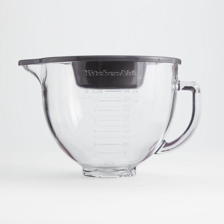 Kitchenaid 5quart tilthead glass bowl with measurement