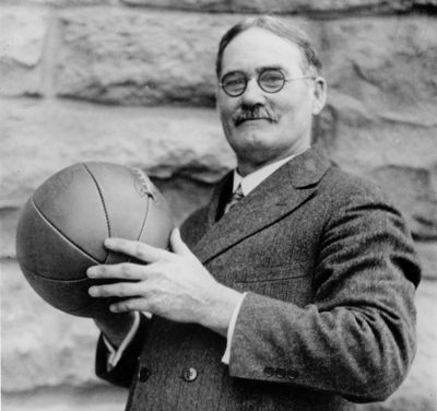 As a young instructor at the YMCA International Training School at Springfield, Massachusetts, he invented the game of basketball and wrote the original basketball rulebook. He founded the University of Kansas basketball program and graduated from the Gross Medical School of Colorado University with a medical degree. James lived to see basketball adopted as an Olympic demonstration sport in 1904 and saw basketball make its Olympic Games debut in 1936 at Berlin.