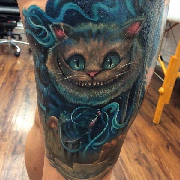 38 besten cheshire cat tattoos bilder auf pinterest grinsekatze tattoo katze t towierungen. Black Bedroom Furniture Sets. Home Design Ideas
