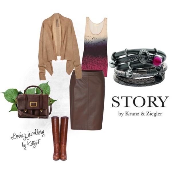 """STORY bracelets and fall colors"" by kattjaf on Polyvore"