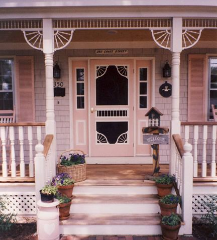 Porch Photo 32   Vintage Woodworks Would LOVE An Old Victorian Screen Door  Some Day