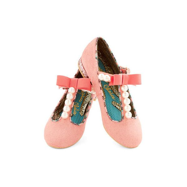 Irregular Choice Statement Pearl, You Know Itb ($48) ❤ liked on Polyvore featuring shoes, flats, pink, ballet flat, flat, ballerina flat shoes, pink bow flats, flat shoes, pink ballet shoes and bow ballet flats