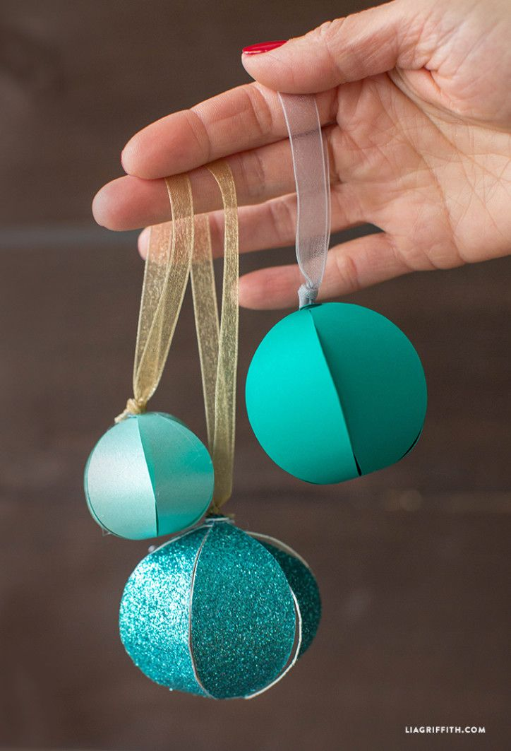 DIY Paper Christmas Ornaments | Paper balls, Diy paper and