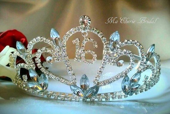 Sweet 16 Tiara Rhinestone Tiara Crown Headband Tiara Headband Party Birthday Crown Birthday Tiara Sweet 16 Tiara from Ma Cherie Bridal.